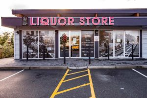 liquor store outside near-queens hotel new westminster